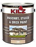 epoxy floor polish - KILZ Interior/Exterior Self-Priming Masonry, Stucco and Brick Flat Paint, 1 gallon, Tan