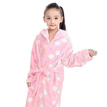 XZ Albornoces para niño Batas y Kimonos niña Bebé Bata Baño con Capucha Coral Fleece Toallas