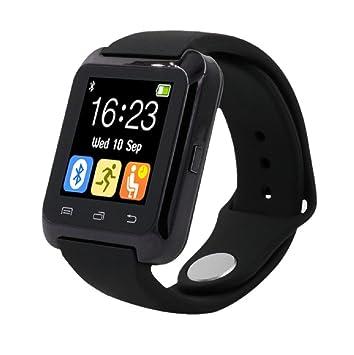 Sannysis® Para iPhone LG Samsung Bluetooth elegante reloj de pulsera de Salud podómetro: Amazon.es: Deportes y aire libre