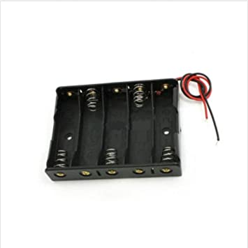 10Pcs Plastic Battery Storage Case Box Holder For Aa With Wire Lead rk