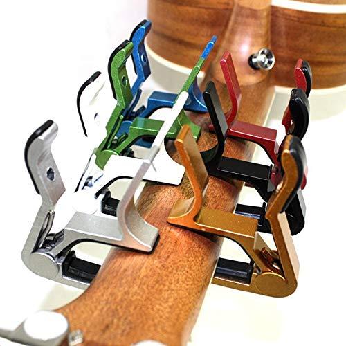 Ychener Cejilla de Guitarra de Metal para Guitarra ac/ústica el/éctrica Accesorio para Guitarra cl/ásica 6 Cuerdas