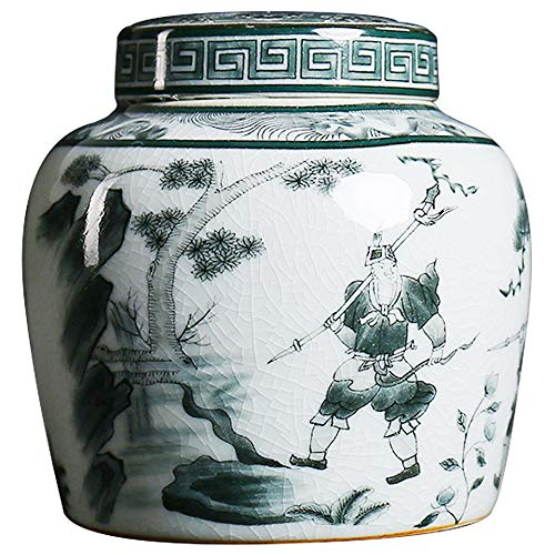 - QINYA,Funeral Urn Cremation Urns for Human Ashes Adult and Memorial,Made in Ceramics & Hand-Painted,Affordable Urns for Ashes (Mountain Woods, Porcelain Cover)