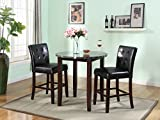 Roundhill Furniture Praia 3-Piece Artificial Marble Top Counter Height Set, Includes 1 Table and 2 Stools Review