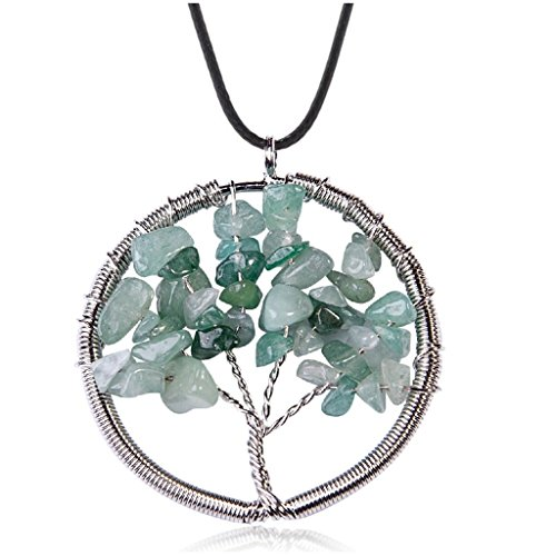 Costumes For Rent Philippines (Natural Gem Tree Of Life Pendant Necklace Handmade Necklace)