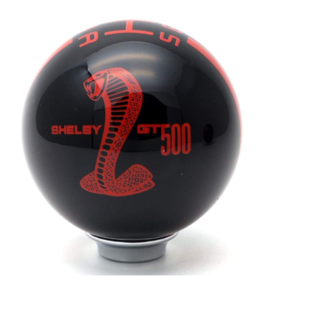 Black Gear 5 Speed Round Ball Type R S Shifter for Mustang Shelby GT 500 Cobra Manual Gear Shift Knob Trim Selector Red White Black