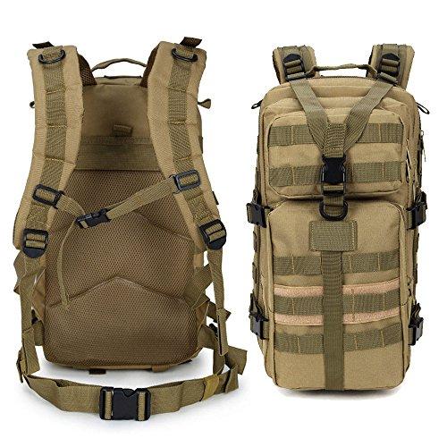 de trepando gran libre trekking al Caqui impermeable capacidad expansible mochila viaje bolsa portátil 35L escalada militar aire kaki táctica caza senderismo dq56dw