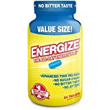 Energize Caffeine Pills - Healthy Focus Supplement - Improve Performance, Increase Alertness and Clarity - Smooth All Day Energy, No Jitters, No Crash - 84 Time Released Tablets