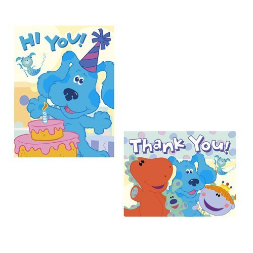 - Blue's Clues Room Invitations and Thank You Notes - 16 Count