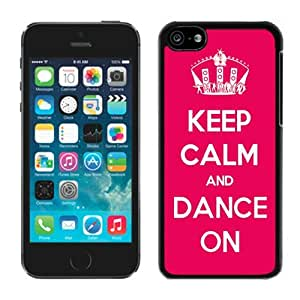 TPU Iphone 5c Red Case Keep Calm and Dance Black Soft Silicone Cover Mobile Phone Apple Accessories