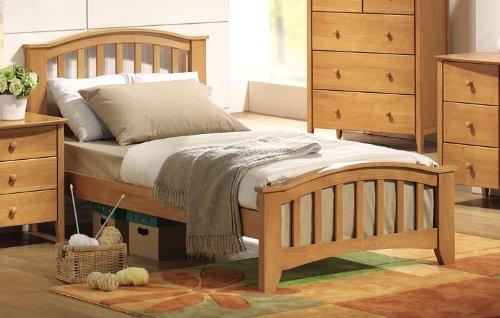 amazoncom acme 08940t san marino twin bed maple finish kitchen dining - Maple Bed Frame