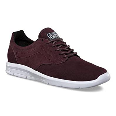 c4bf6bb61934 Image Unavailable. Image not available for. Color  Vans Iso 1.5 Suede Iron  Brown True White Women s Skate Shoes ...