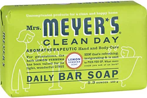 Mrs. Meyer's Clean Day Bar Soap 5.3 Oz. Lemon Verbena Scent, 12-Pack
