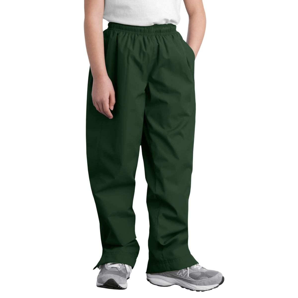 Sport-Tek Youth Wind Pant, Forest Green, S