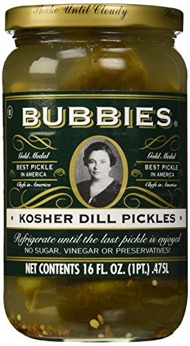 Gluten Free Pickles - Bubbies, Kosher Dills Pickles, 16 oz