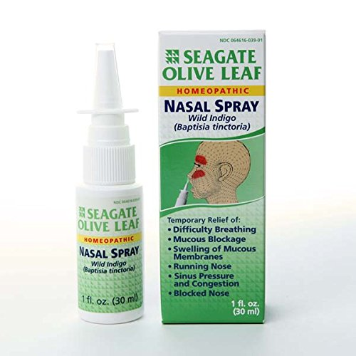 Seagate Olive Leaf Spray Nasal, une once Box