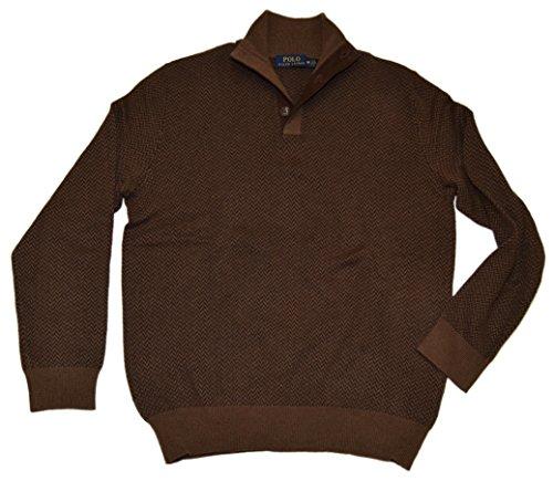 Polo Ralph Lauren Men's Wool Herringbone Sweater (Medium, Browns) by Polo Ralph