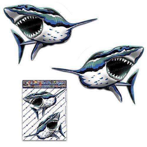 Autoadesivo dell'automobile della decalcomania dell'animale di pesce degli squali del carro armato degli squali del carro armato degli auto - ST00059_SML - JAS Adesivi