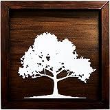 Quadro Decorativo, Modelo Árvore Me Criative QFC Fundo Tabaco Pacote de 1
