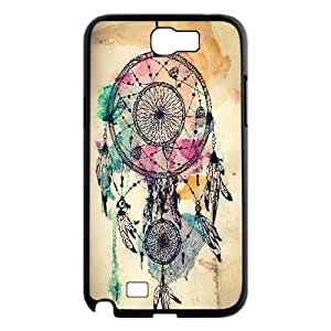 Dreamcatcher Series, Samsung Galaxy Note 2 Case, Dreamcatcher + Water Color Splatter Case for Samsung Galaxy Note 2 [Black]