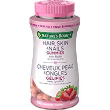 Nature's Bounty Hair Skin and Nails Gummies with Biotin Value Size, 165 Count
