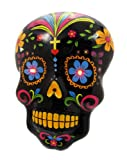 Day of The Dead Sugar Skull Motion Sensor LED Wall Decor Plaque (Black)