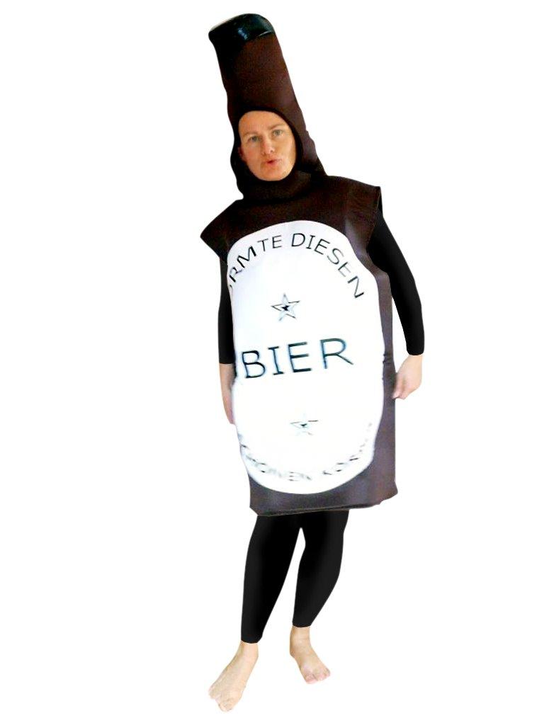 Bier-Flasche Kostüm, To48 Gr. M-L, Bierflasche-Kostüme Bierflaschen ...
