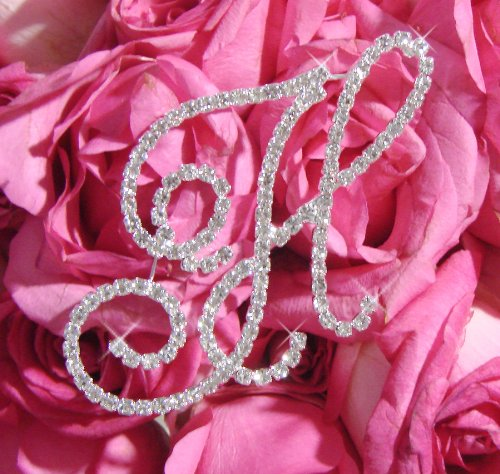 Rhinestone Crystal Letter for Bridal Bouquet or Wedding Centerpiece Accent Letter A