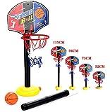 OurKosmos® regolabile Bambini Bambini Junior Basket cerchio e palla stand pompa Backboard Set Indoor e Outdoor Fun Ball Giocattoli Attività per 3-7 anni i ragazzi più grandi gioco di sport