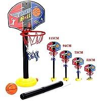 OurKosmos® réglable Enfants Enfants junior Basketball Hoop And Ball stand Pump Backboard Set Indoor et Outdoor Fun billes Jouets Activités pour 3-7 ans d'enfants âgés de jeux de sport