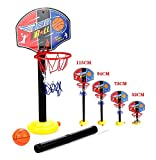 OurKosmos® Adjustable Children Kids Junior Basketball Hoop And Stand Ball Pump Backboard Set Indoor and Outdoor Fun Ball Toys Activities for 3-7 years older kids Sports game