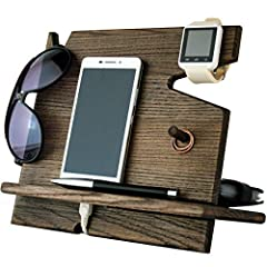 Wooden Cell Phone Stand. Nightstand