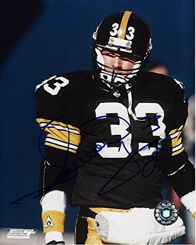 b93249f95 Image Unavailable. Image not available for. Color  Merrill Hoge Signed -  Autographed Pittsburgh Steelers ...