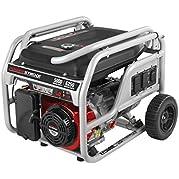 Powerstroke PS905000B, 5000 Running Watts/6250 Starting Watts, Gas Powered Portable Generator