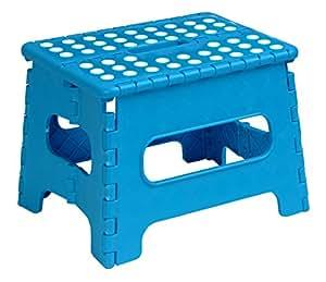 Amazon Com Folding Step Stool 9 Inch Blue Home Improvement