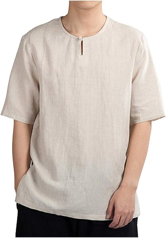 FRAUIT Camisetas Hombre Algodon Camisetas de Verano para ...