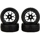 GoolRC 4Pcs High Performance 1/10 Rally Car Wheel Rim and Tire 20101 for Traxxas HSP Tamiya HPI Kyosho RC Car