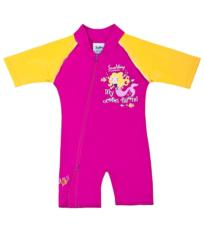 Amazon SunWay Kids Baby Girls Red Swimwear Swimsuit Sun suit