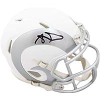 $249 » Aaron Donald Autographed Los Angeles Rams Ice Mini Football Helmet - JSA COA
