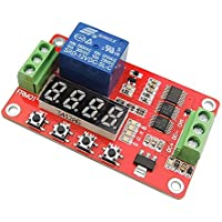 uniquegoods Multifunction 12V Self-lock Relay Cycle Timer Module PLC Delay Time Switch