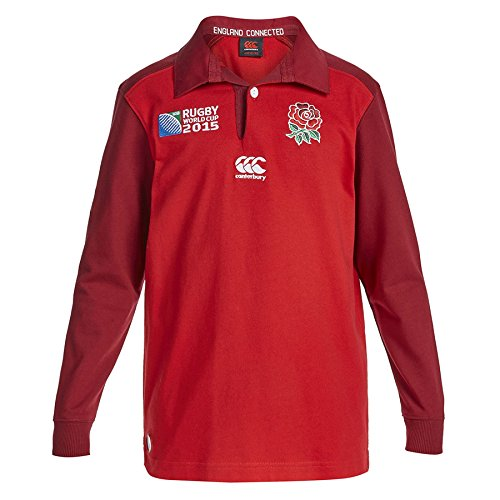 Classic England Rugby Shirt - Canterbury England Rugby Classic Long Sleeve Kids Jersey Boys Home/Away Shirt 8 Years-14 Years New (10 Years, Red)