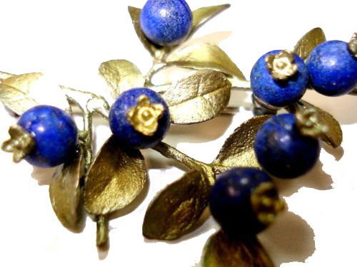 BLUEBERRY C LUSTER PIN/BROOCH BY MICHAEL MICHAUD FOR SILVER SEASONS