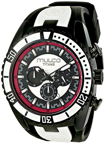 MULCO Unisex MW5-1836-028 Titan Wave Analog Display Japanese Quartz Black Watch