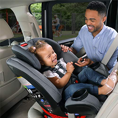 51O6d73zknL - Britax One4Life ClickTight All-In-One Car Seat – 10 Years Of Use – Infant, Convertible, Booster – 5 To 120 Pounds, Spark Premium Soft Knit Fabric [Amazon Exclusive]