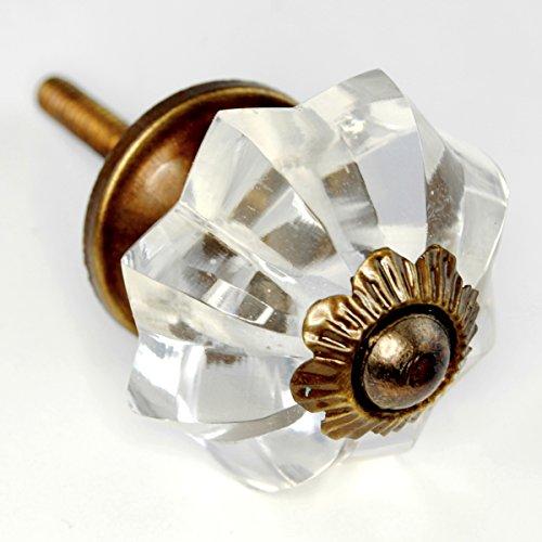 Fancy Clear Glass Cabinet Knobs, Dresser Drawer Handles U0026 Pull Set/6pc ~  K223VF