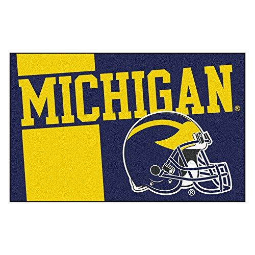 - FANMATS 18759 Michigan Uniform Inspired Starter Rug