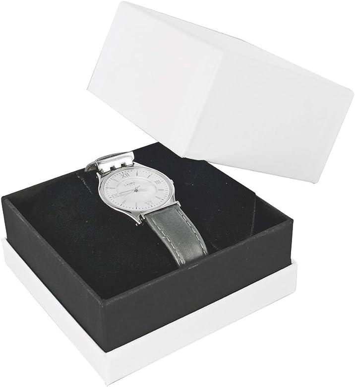 Reloj Jouailla-Caja de cartón, color blanco: Amazon.es: Joyería