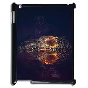 Ipad2,3,4 Fire skulls Phone Back Case Customized Art Print Design Hard Shell Protection HG053180