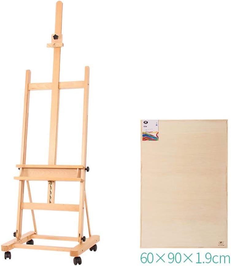 大型油絵イーゼル、180〜250 Cm調整可能大型屋外広告ディスプレイスタンド、スケッチを組み立てるブナの木の色中国絵画イーゼル、2k / 1kアートボードオプション