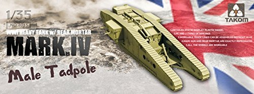 Takom 1:35 - British Mk IV Male 'Tadpole' with workable tracks and wheels by (Tadpoles Stars)