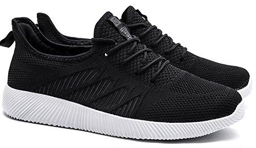 Ultraleicht Mode Sportschuhe Sneaker Unisex Schwarz 44 Weiß 35 Turnschuhe SEECEE EU pf1Zqxw